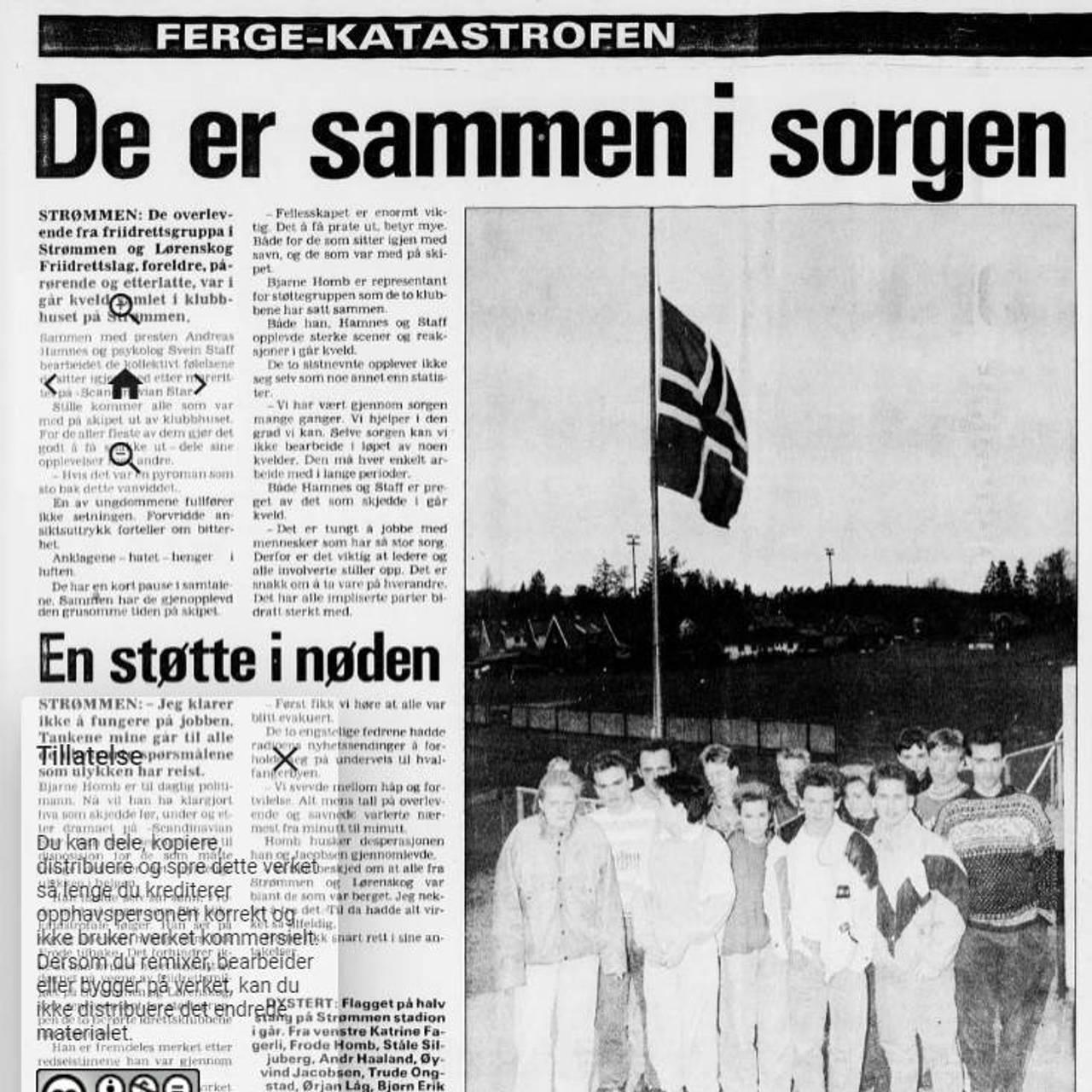 Faksimile fra VG 28. mai 1990.