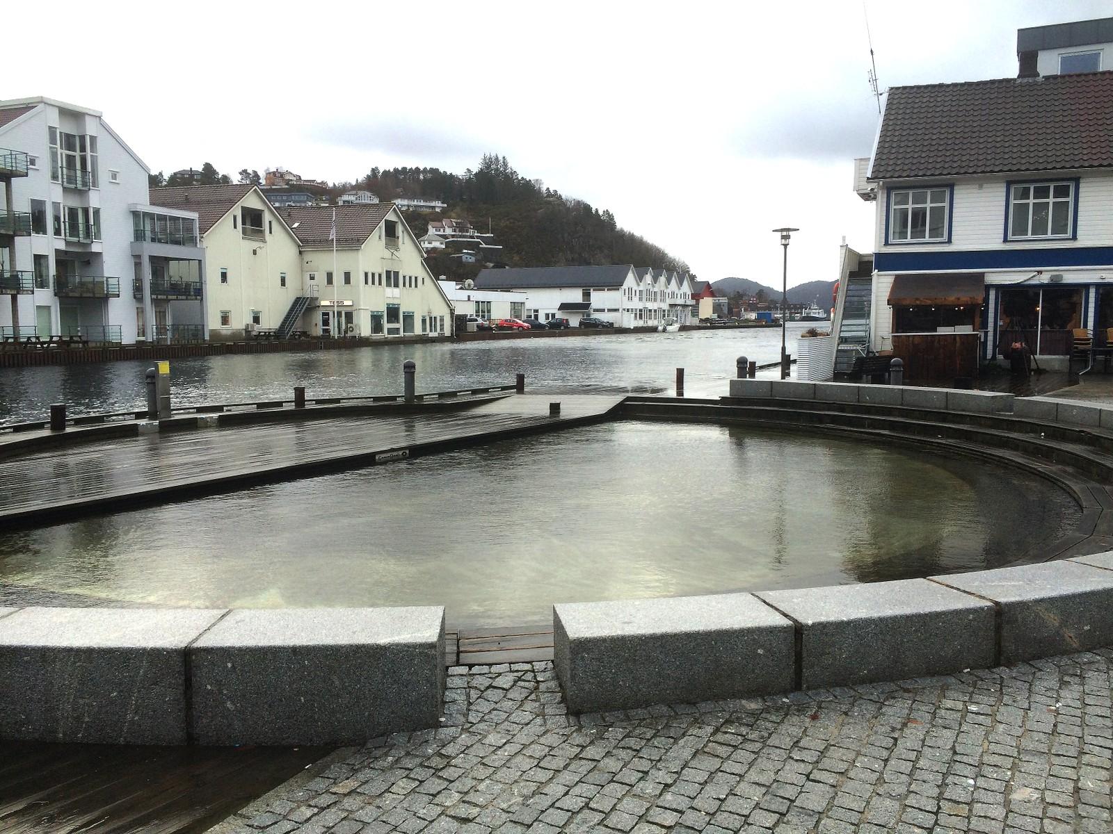 Høyvann i Flekkefjord