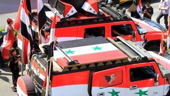 Syriske militære kjøretøy 17. april