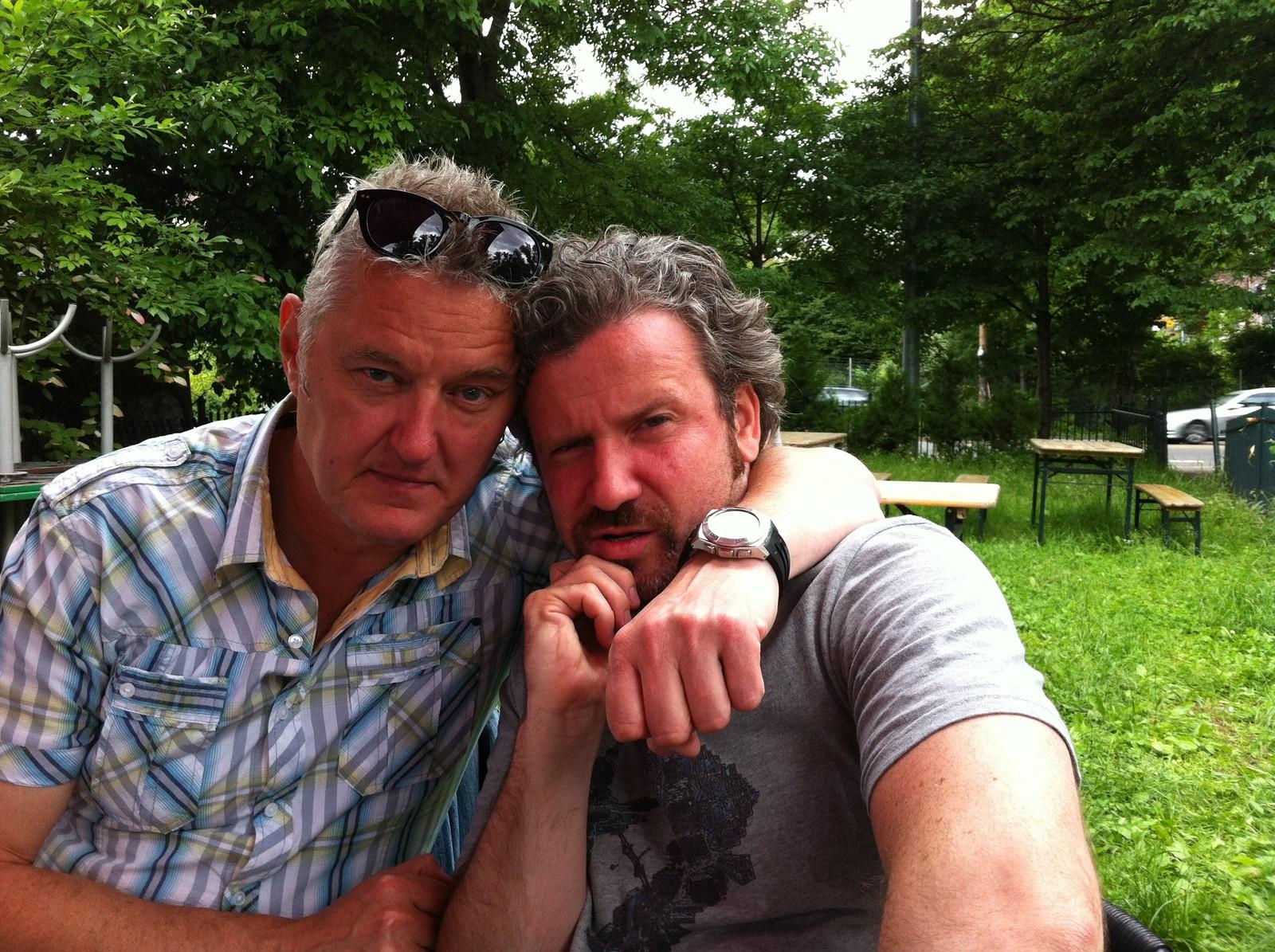 Selfie med Jovan Pavlovic fra Serbia, som har bodd i Trondheim i mange år.