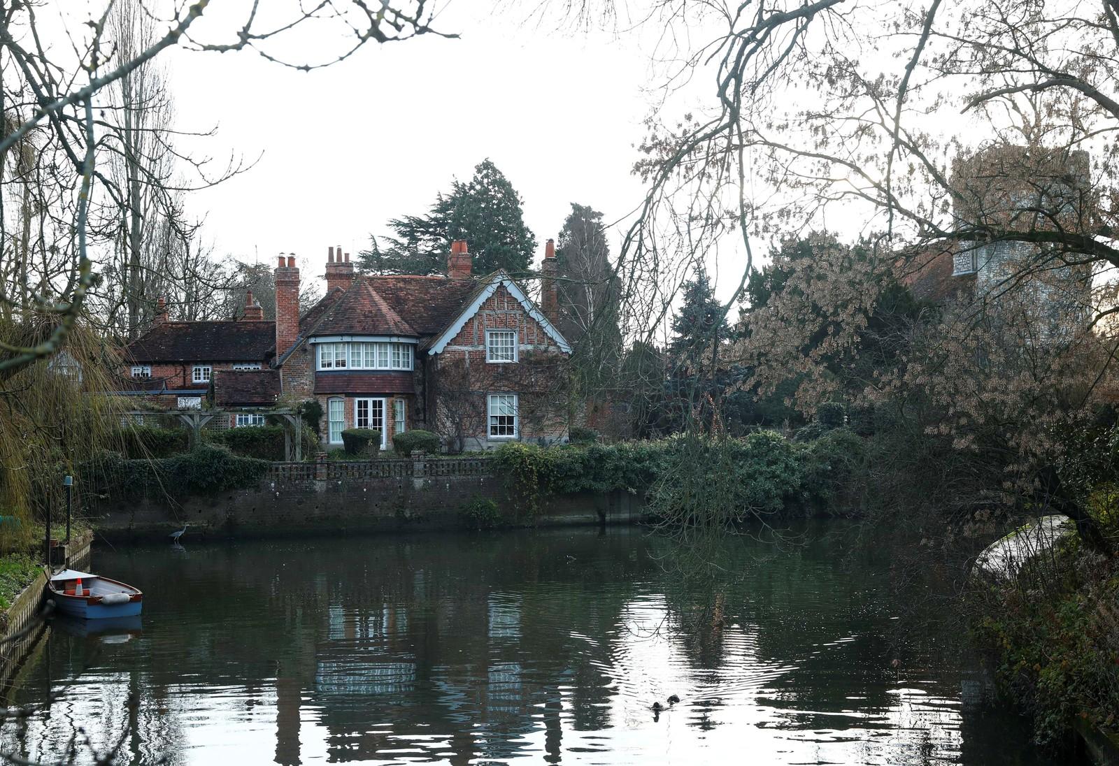 2016: George Michaels hjem i Goring ved elven Thames i Oxfordshire.