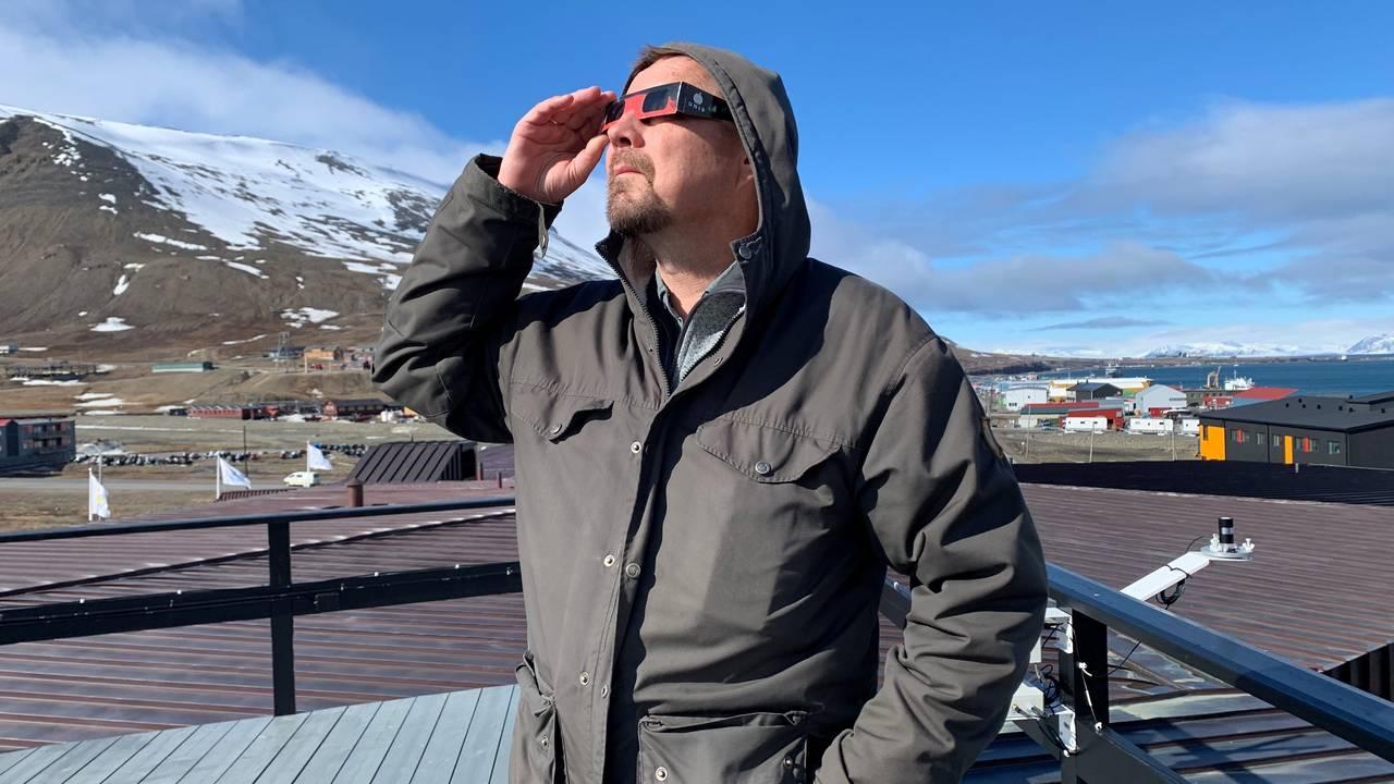 Fred Sigernes  professor, Universitetet på Svalbard og leder ved Kjell Henriksen observatoriet