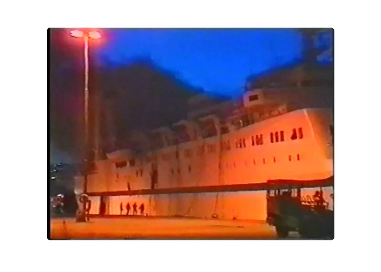 Video av scandinavian star i havn etter brannen.