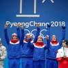 Landslaget jubler etter OL-gullet er sikret.