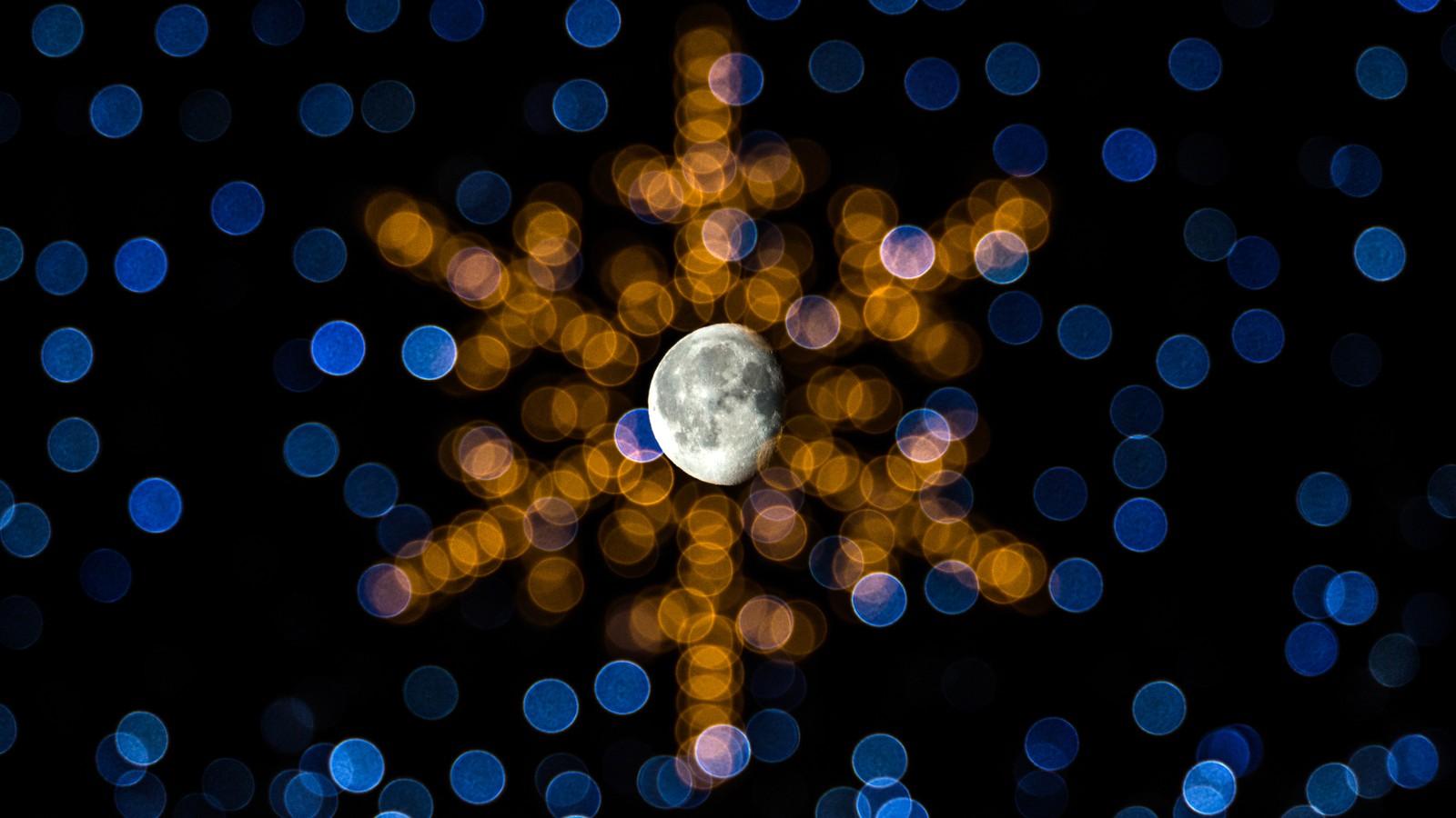 Månen og julestjerna