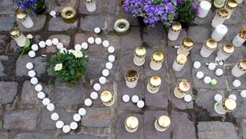 sorg etter terrorangrepene, oslo søndag