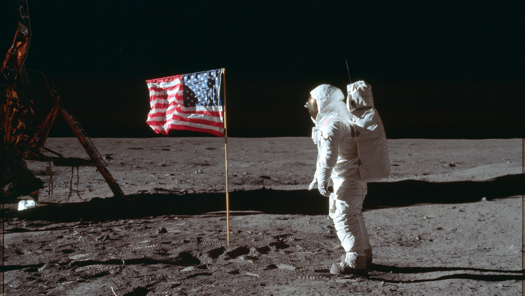 Photo by NASA, U.S. flag on the moon during the Apollo 11 mission. (Neil Armstrong/NASA via AP)