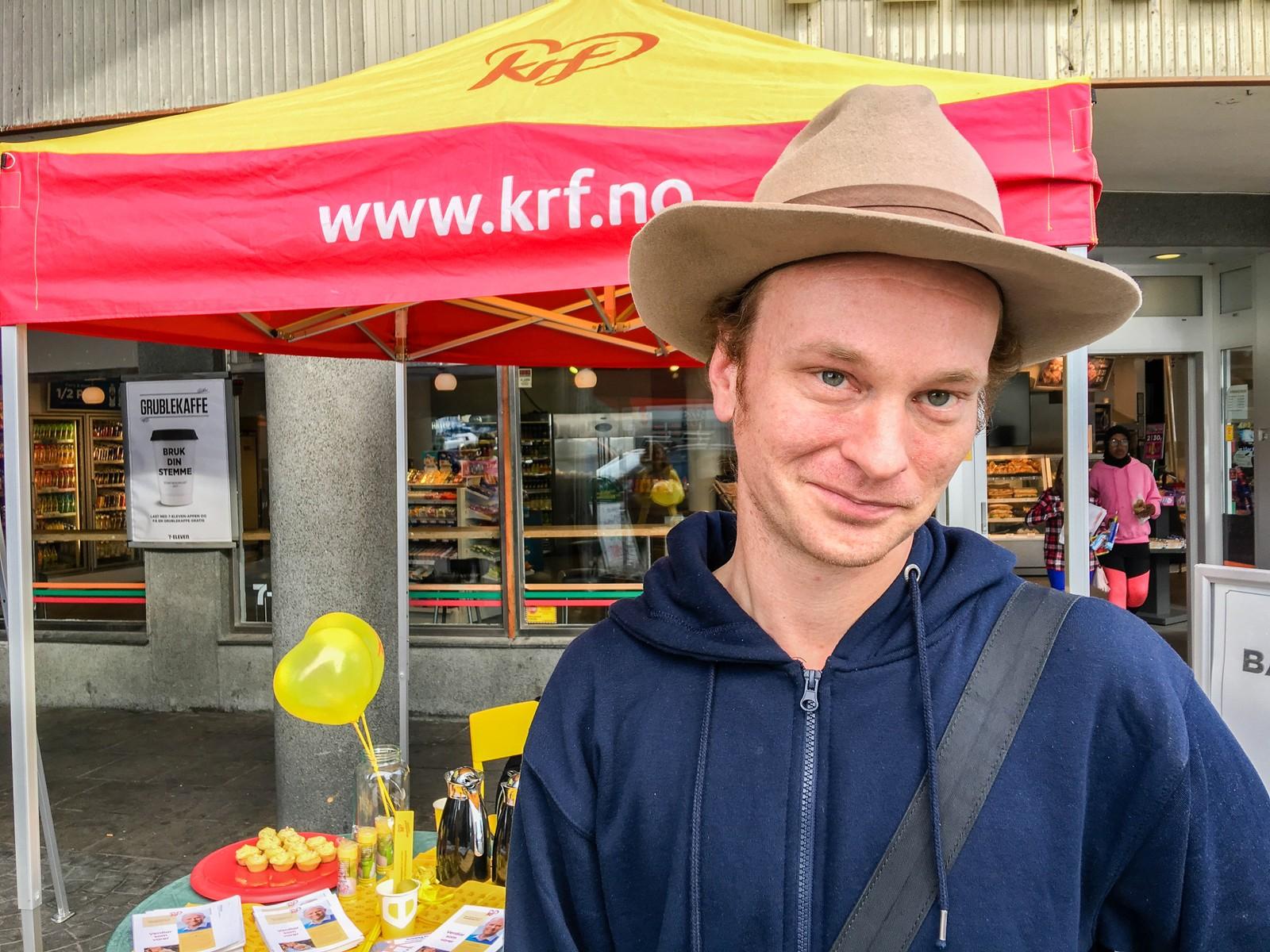 Asgeir Vik har allerede bestemt seg. I år stemmer han på Kristelig Folkeparti.