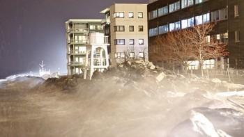 Trondheim under ekstremværet Tor