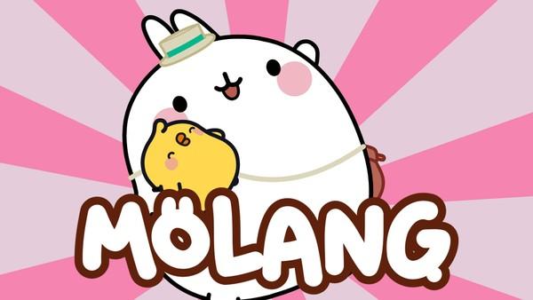 Fransk animasjonsserie. Om de to gode vennene Molang og Piu Piu.