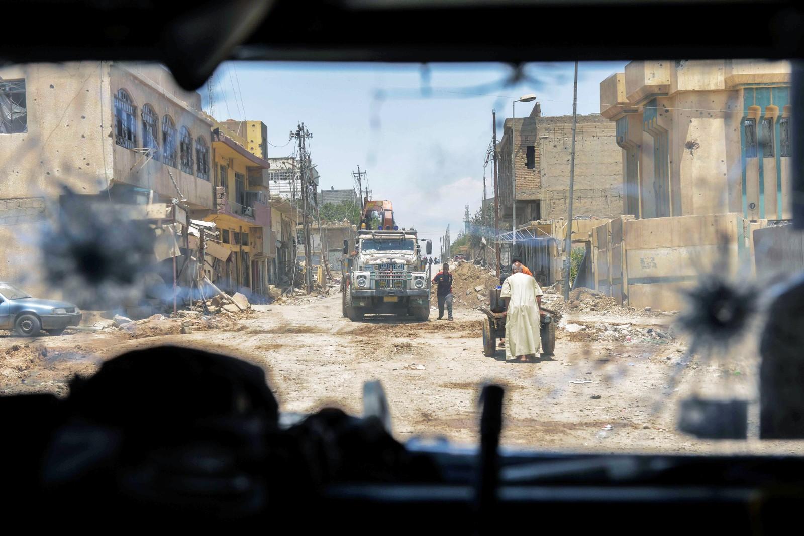 Irakiske styrker rykker fram i gamlebyen i Mosul.