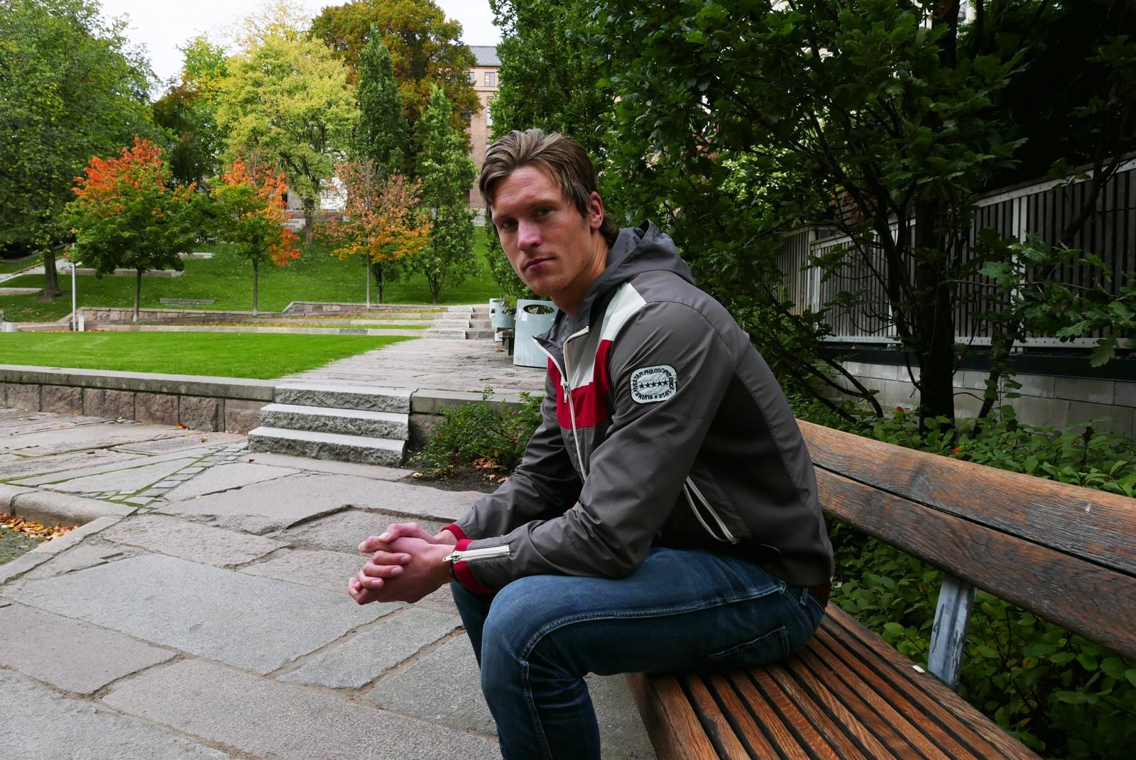 KOM SEG UNNA: Knut Sande var en av de fire andre som syklet sammen med Petter da ulykken skjedde. Knut kom seg unna, det rakk ikke Petter.