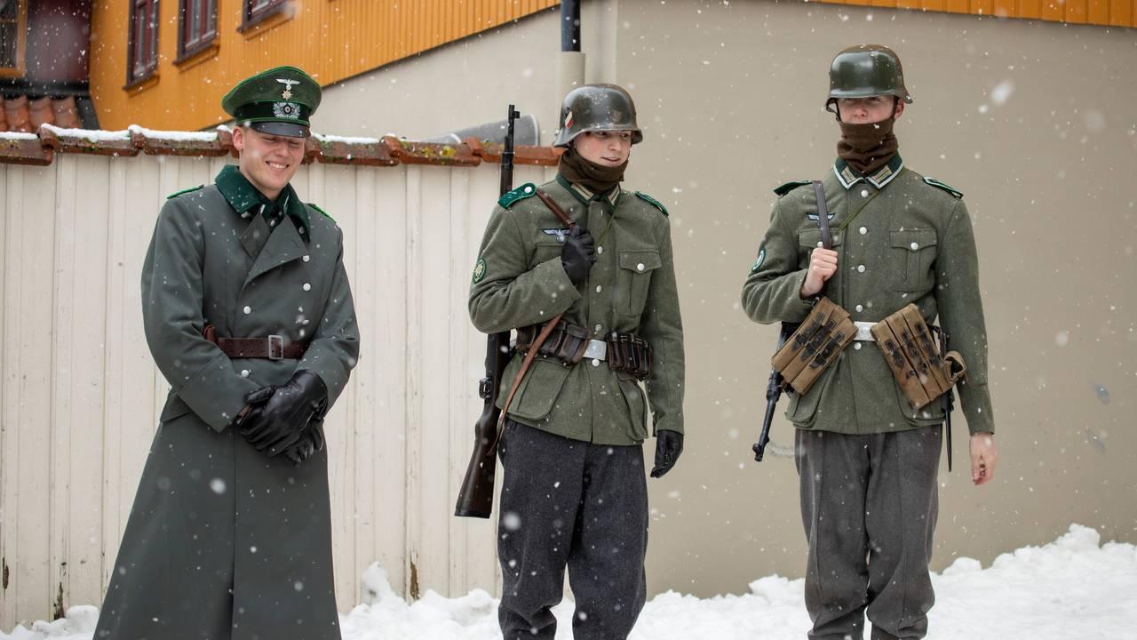 Innspilling av Kampen om Narvik, Hitlers første nederlag» i Drammen
