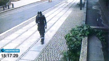 Overvåkningsbilder av Anders Behring Breivik