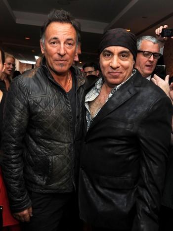 Bruce Springsteen og Little Steven på Lilyhammer-premiere.