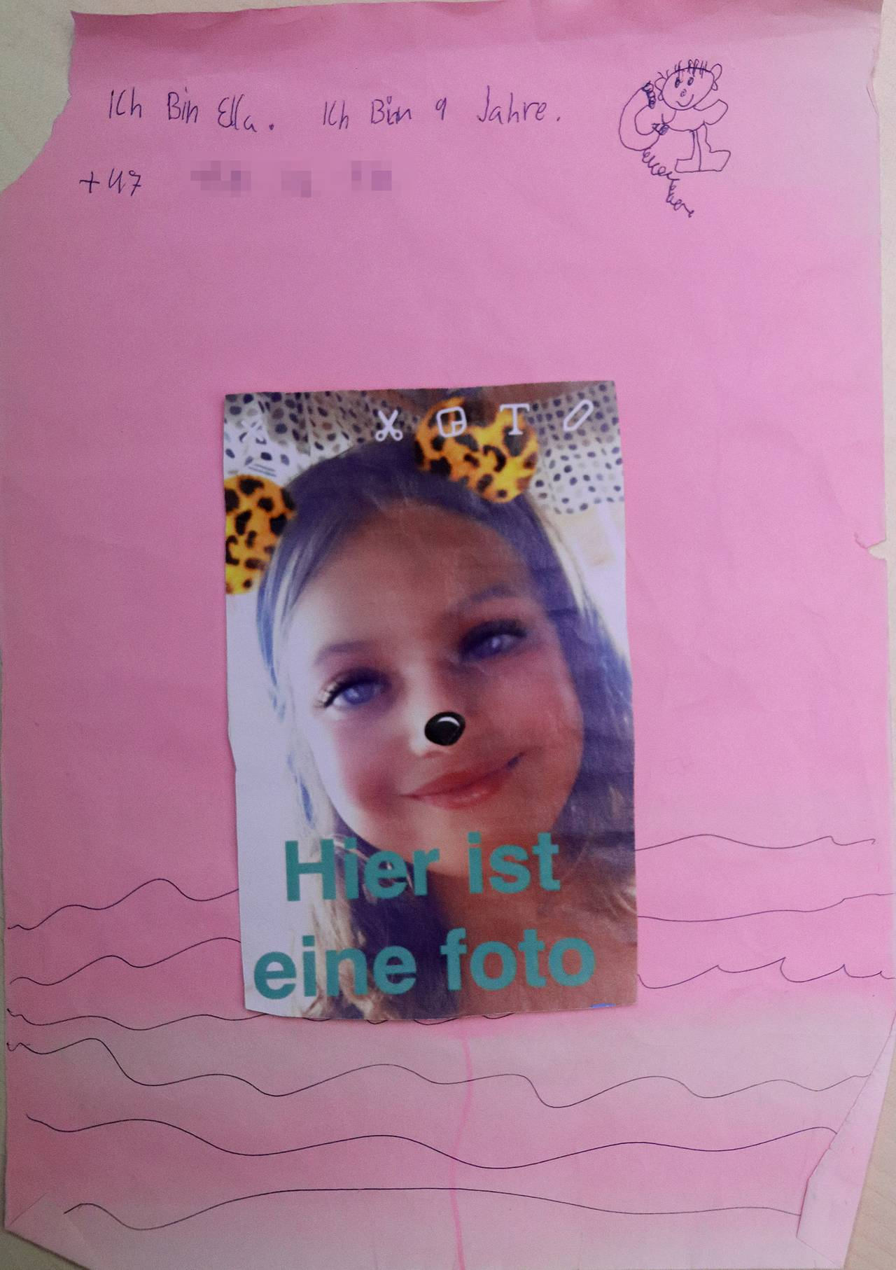 Flaskepost fra tyske Ella. Hun skriver