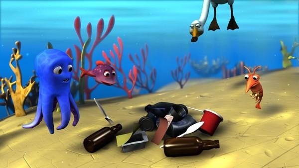 """<span class=""""kicker-title"""">Blekkulf:</span>Blekkulf finner søppel i havet"""