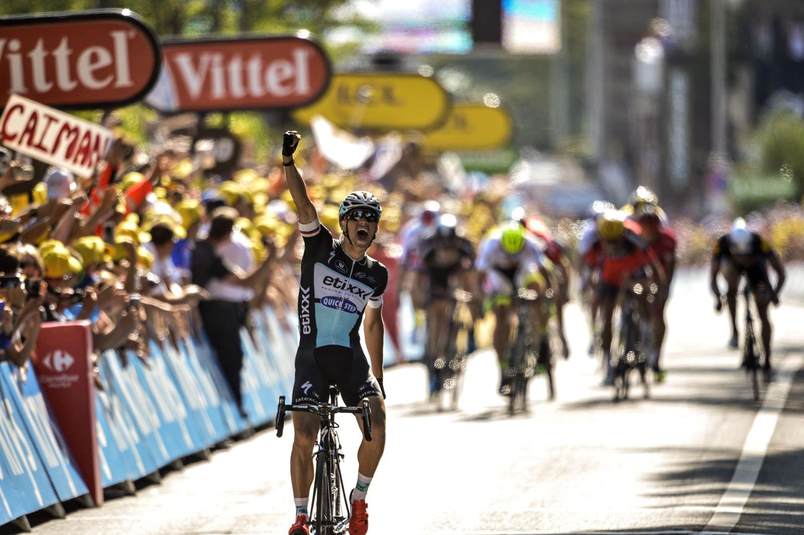 Zdenek Stybar vant den sjette etappen. AFP PHOTO / JEFF PACHOUD