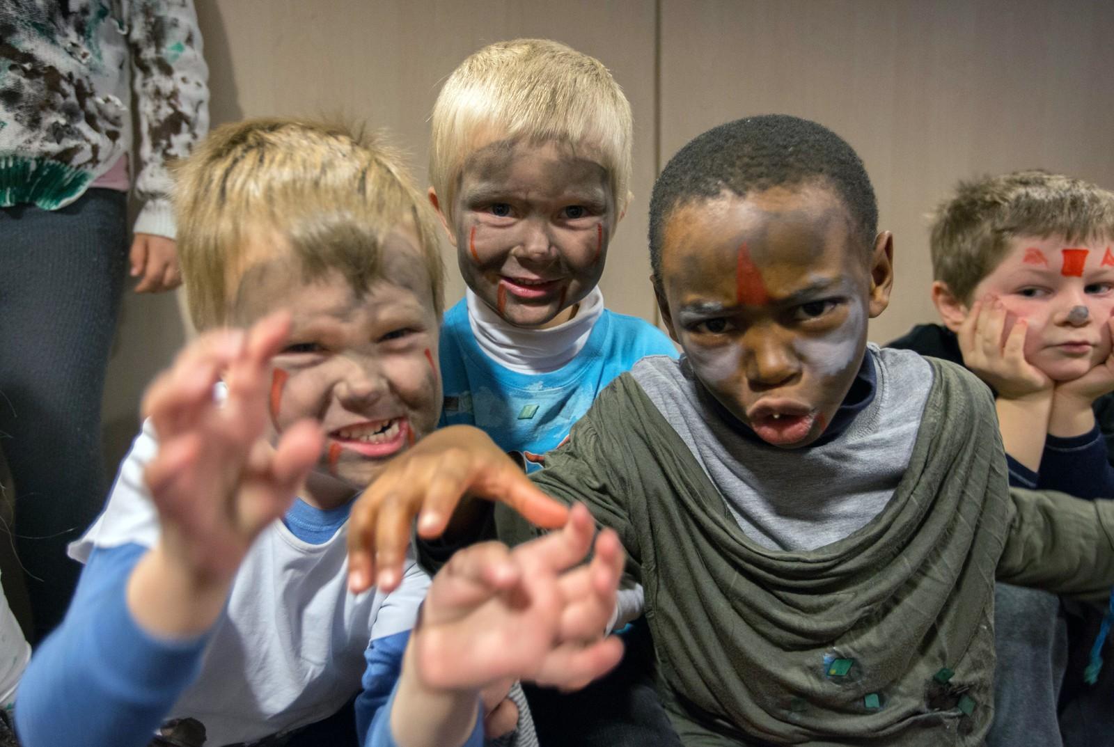 Elias Sunde, Leo Houland og Russel R. Ndah er skumle monstre i dag.