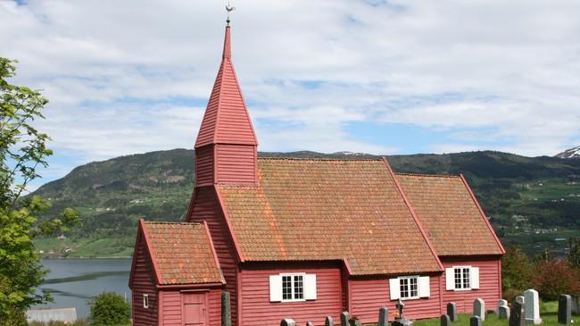 Gimmestad gamle kyrkje. Foto: Ottar Starheim, NRK.