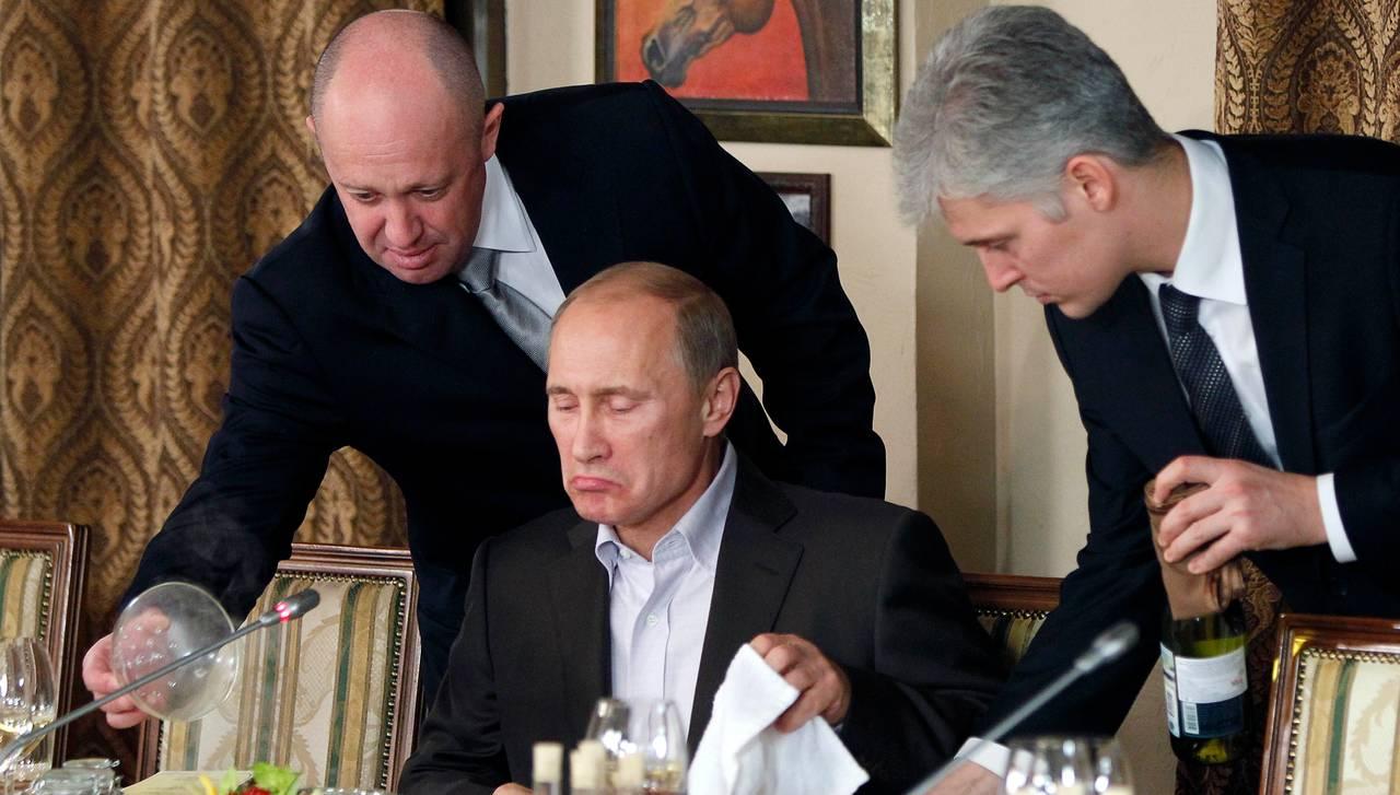Vladimir Putin og Jevgenij Prigozjin