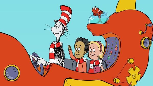 Amerikansk animasjonsserie. Katten tar Nick og Sally med på en rekke opplevelser rundt om i hele verden.