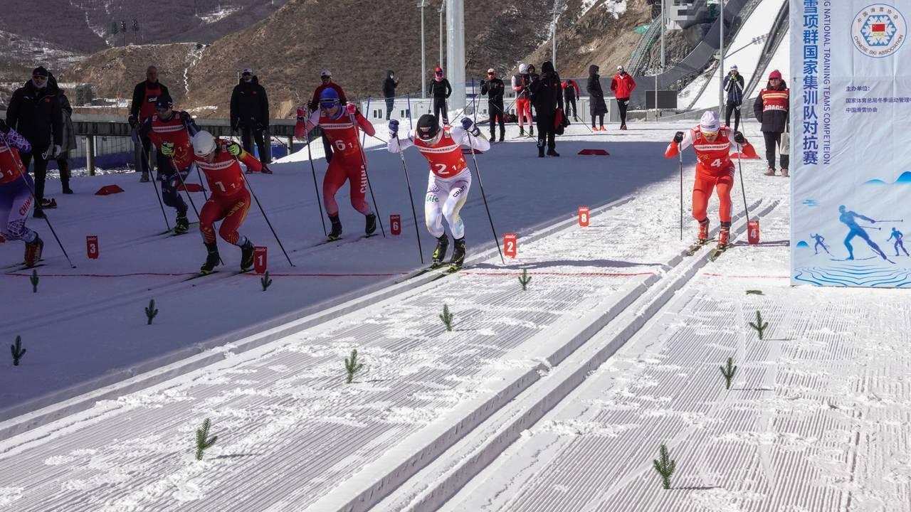 De kinesiske landslagene i skiskyting, kombinert og langrenn konkurrerer mot hverandre