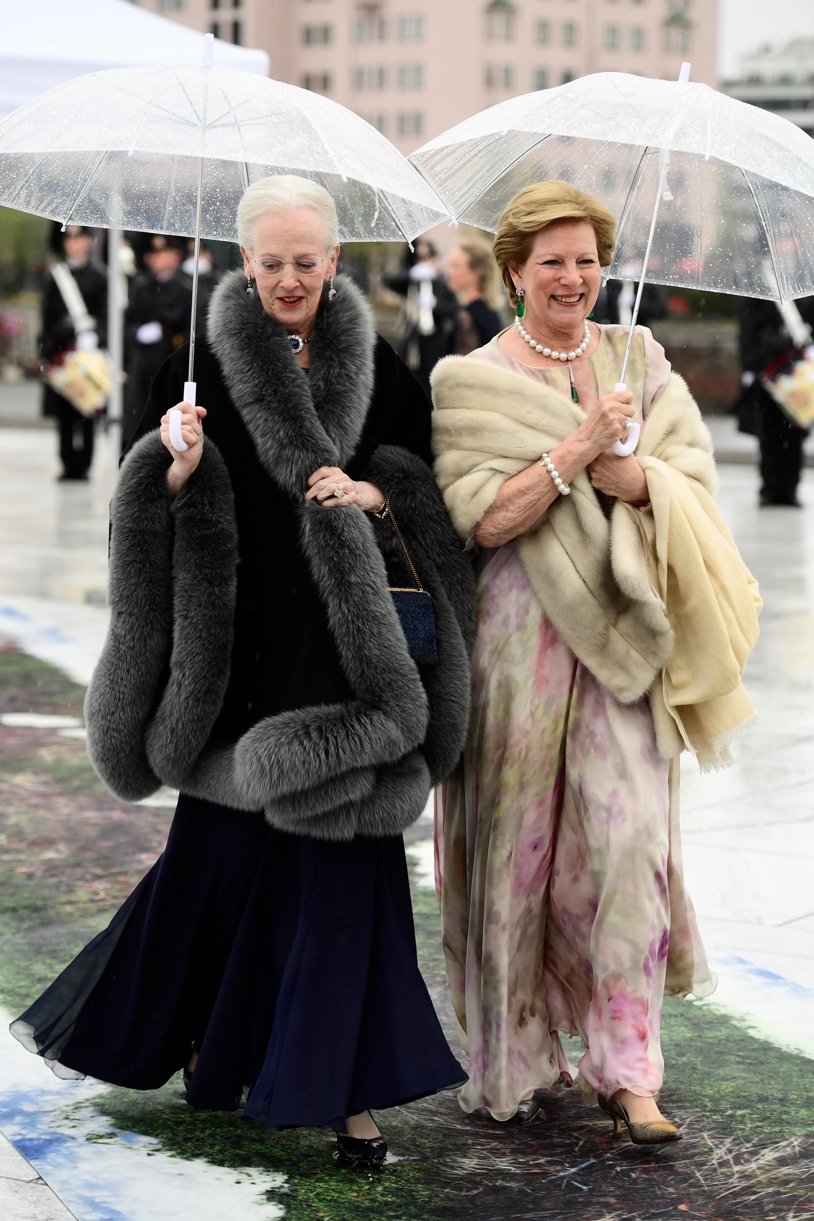 Danske dronning Margrethe kom sammen med tidligere dronning av Hellas, Anne-Marie.