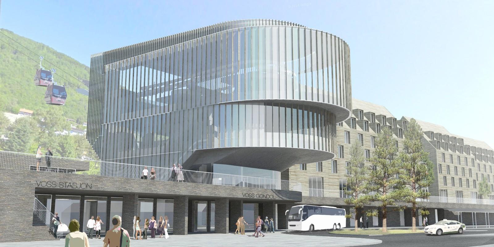 Det vil bli bygget ny terminal på østsiden av dagens jernbanestasjon.