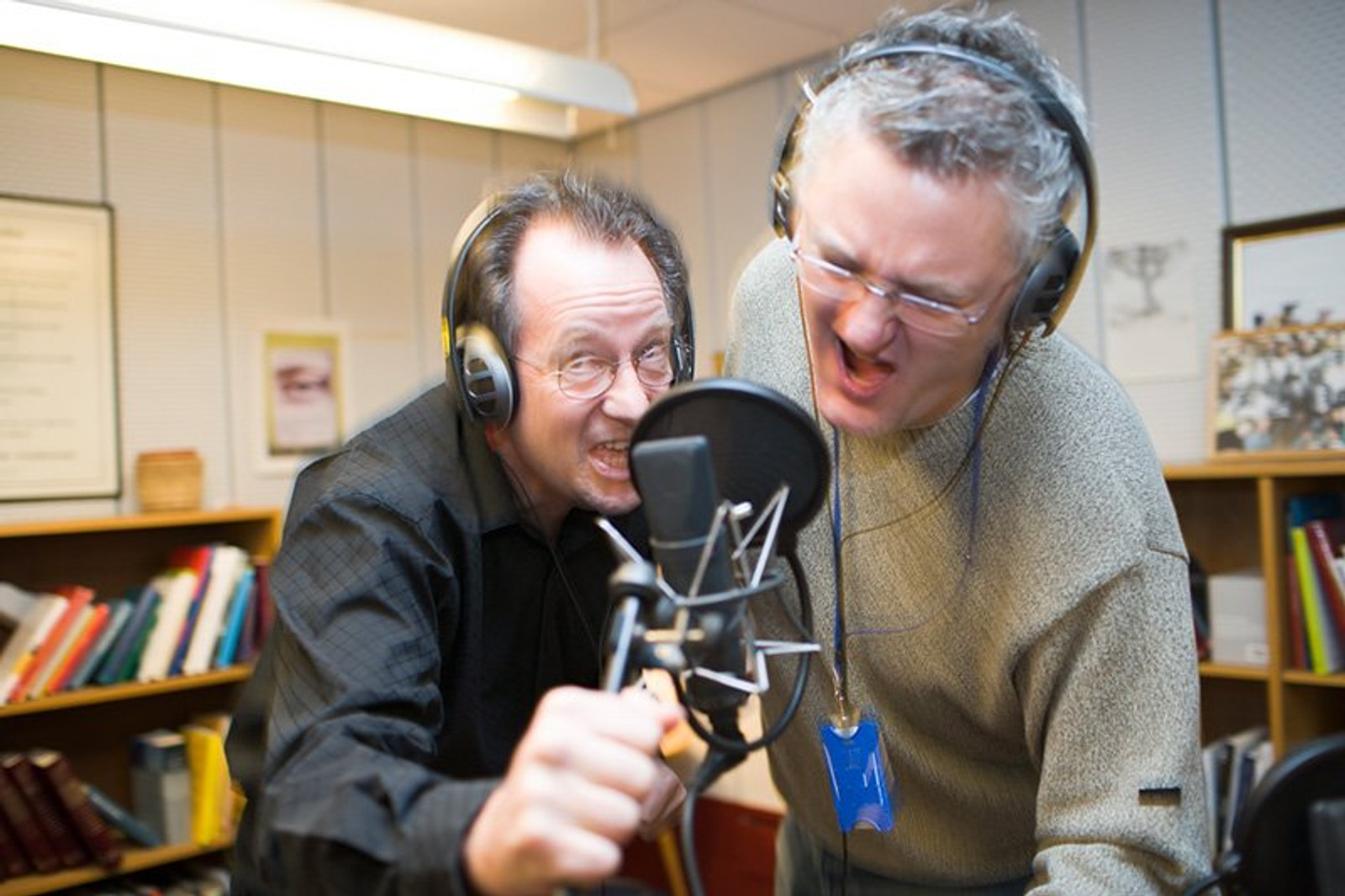 Fotosession i forbindelse med at Arne Berg starter i programmet i 2004.