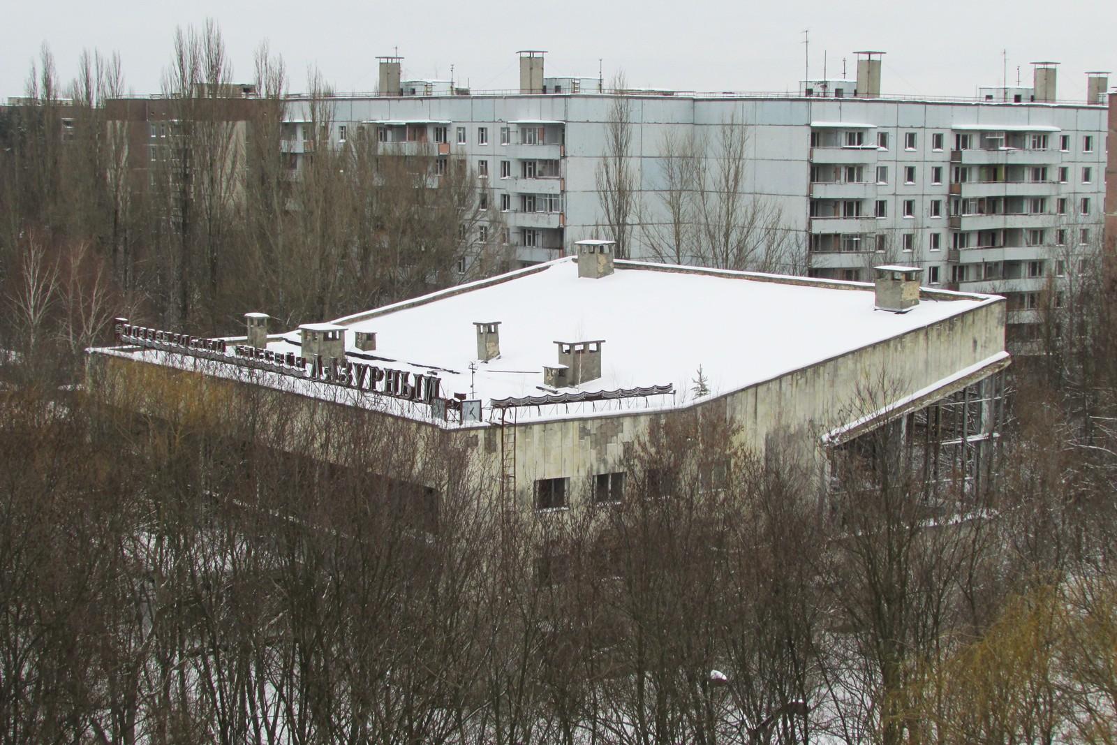 Svømmehallen i Pripyat er en av de mest kjente bygningene i byen.