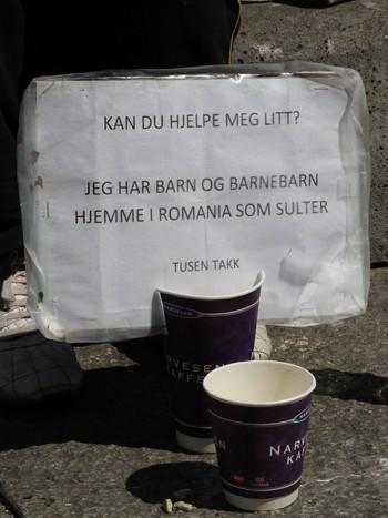 Tiggerplakat i Oslo