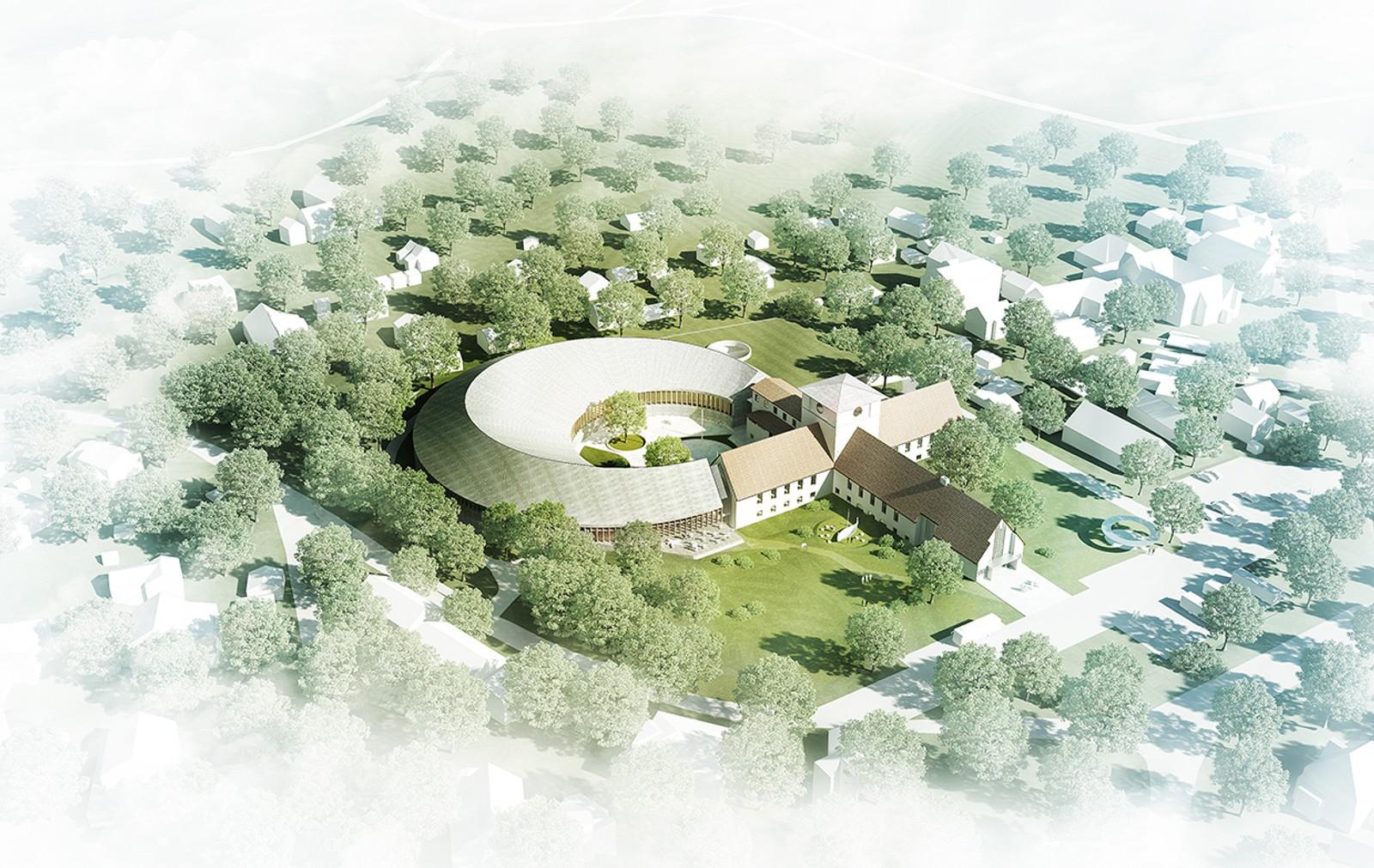 Dette forslaget kan virke som en moderne utvidelse av vikingskipsmuseet.NRK har ikke fått vite hvem som har sendt inn bidragene.