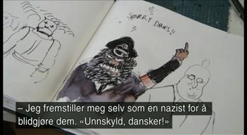 Guardians karikaturtegner gir fingeren til hårsåre danske politikere.
