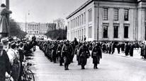 Tyske tropper inntar Oslo 9. april 1940 (Foto: Scanpix)