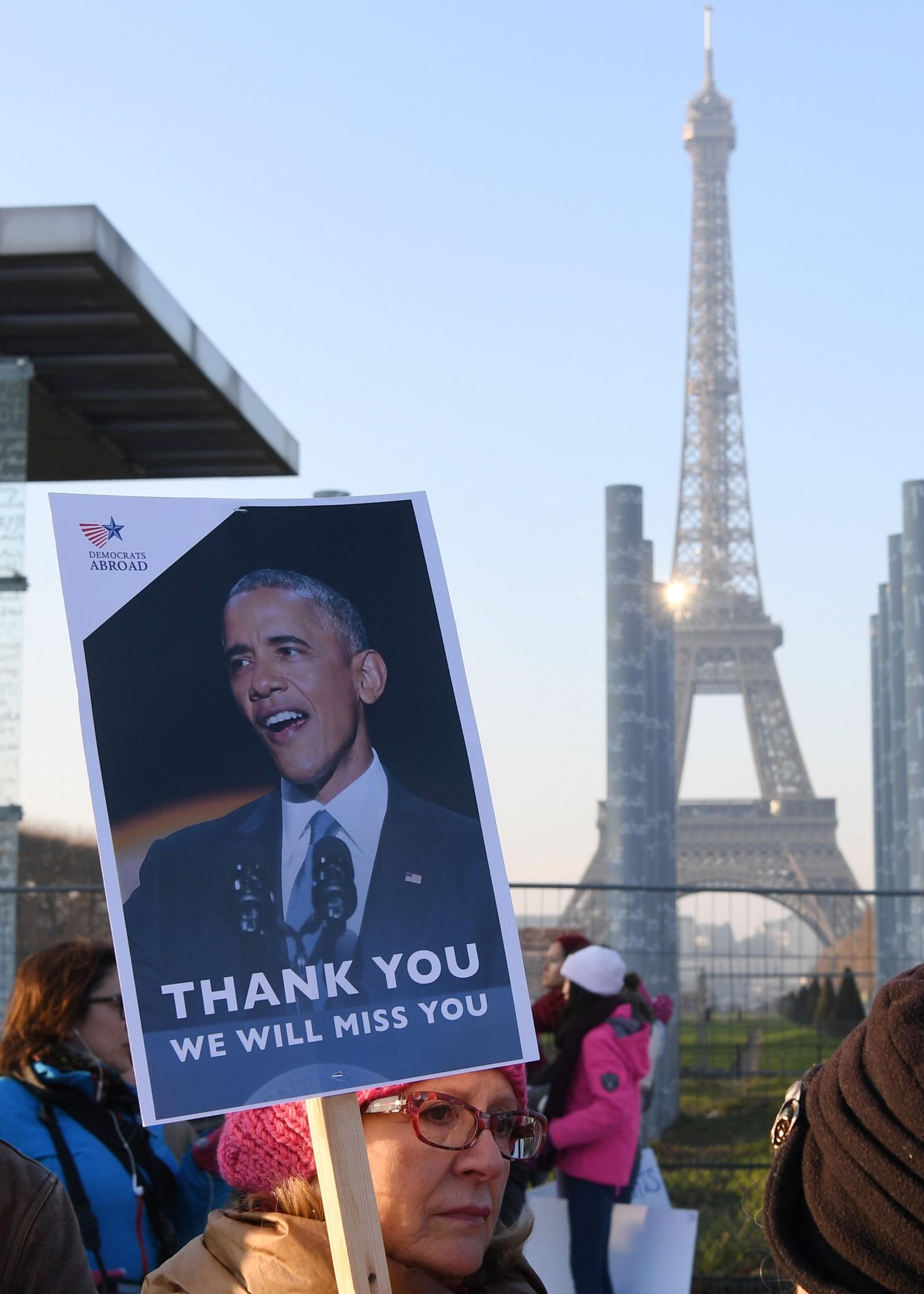 I Paris var det kvinnemarsj også.