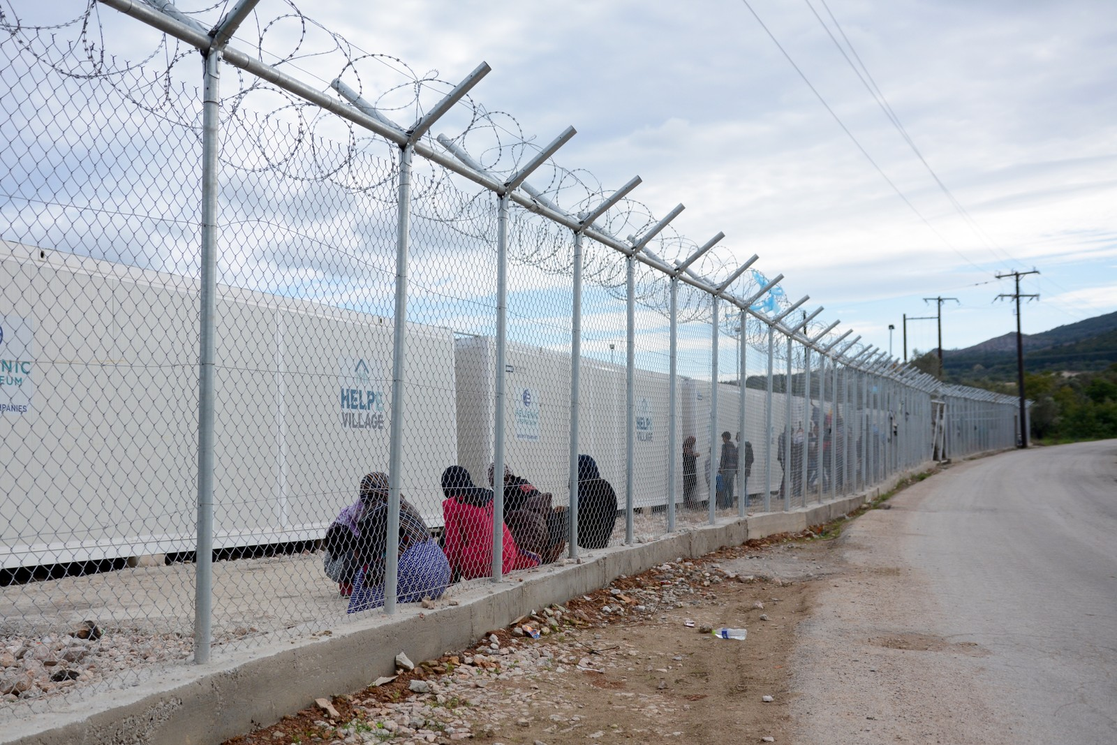 Leiren Vial på den greske øya Chios holder asylsøkere innesperret mens de venter på at asylsøknaden skal behandles.