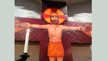 Jesus malt på korset