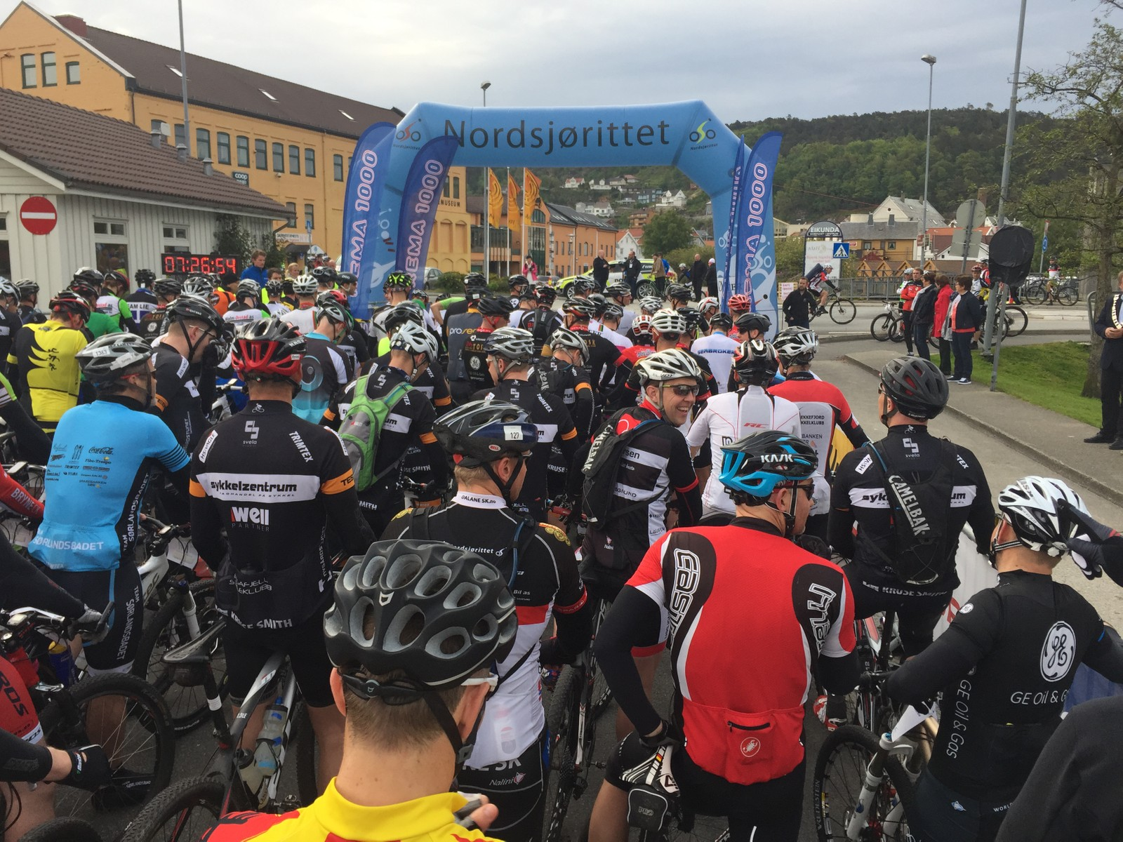 Før start i Egersund sentrum.