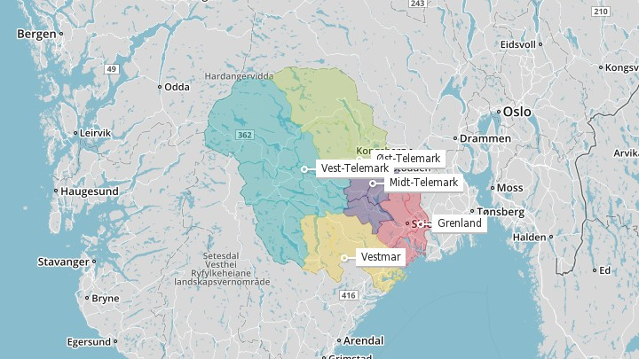 telemark kommune kart Nye kommuner i Telemark: Vest Telemark – NRK Telemark – Lokale  telemark kommune kart