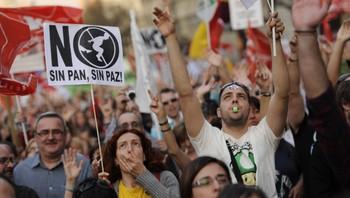 demonstrasjon spania