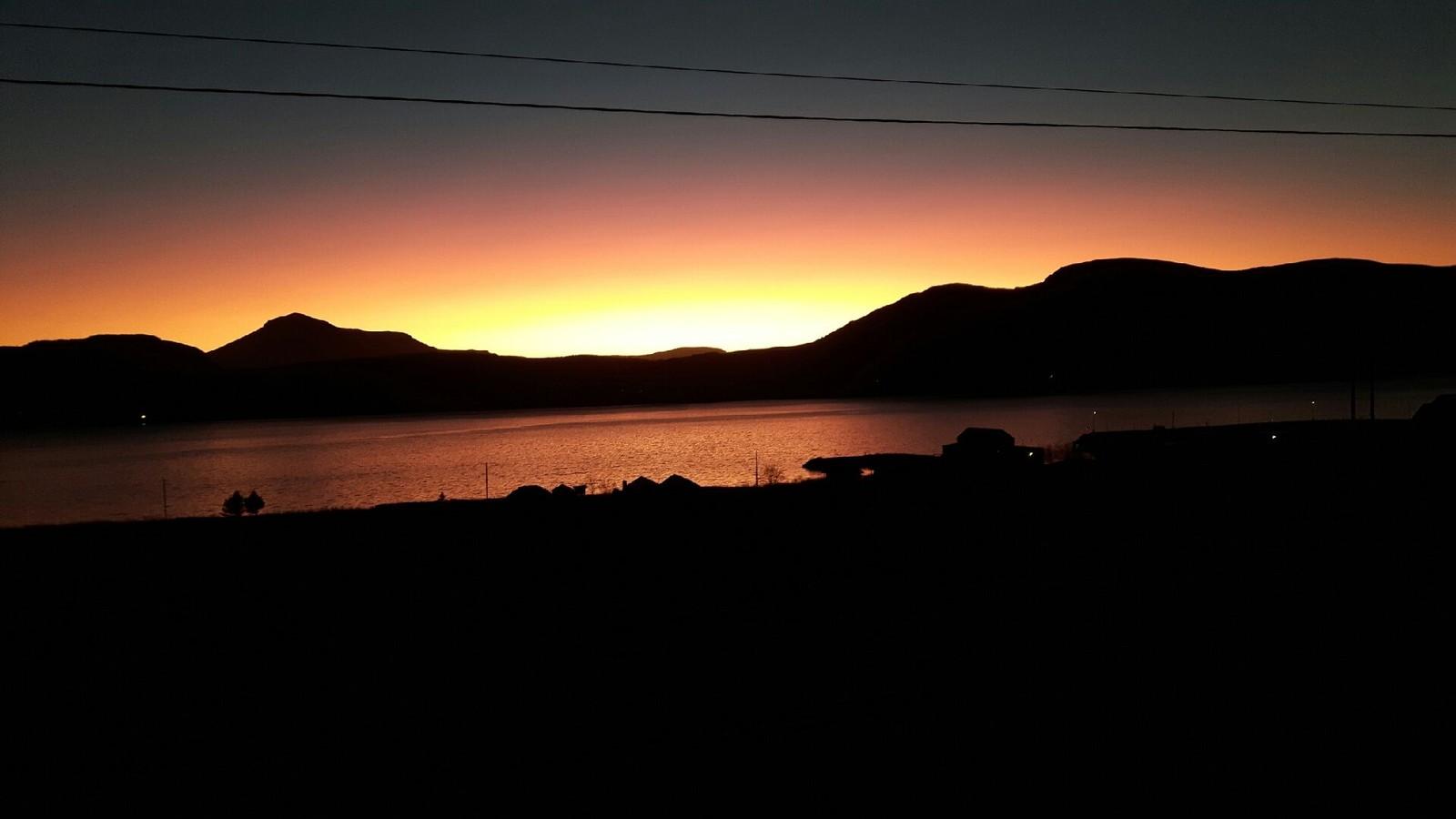 Solnedgang fra Longva