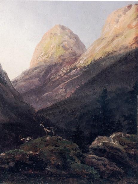Johan Christian Dahl: Fra Rivenosa ved Ytre Kroken 1837. © Blomqvist Kunsthandel.