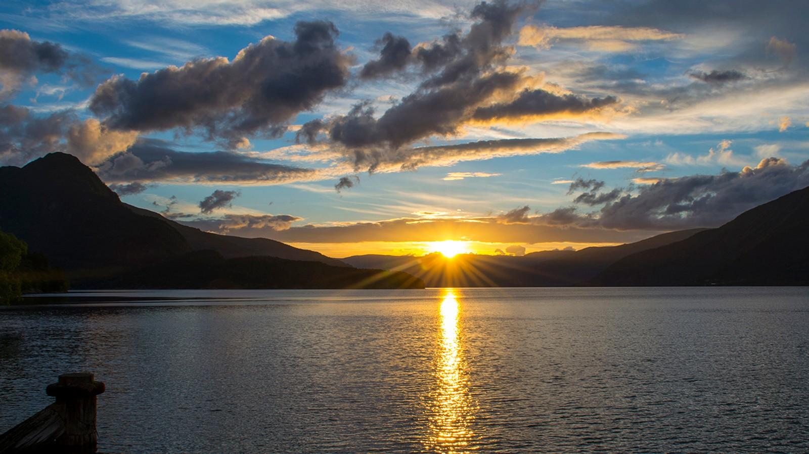 Solnedgang blir aldri feil!