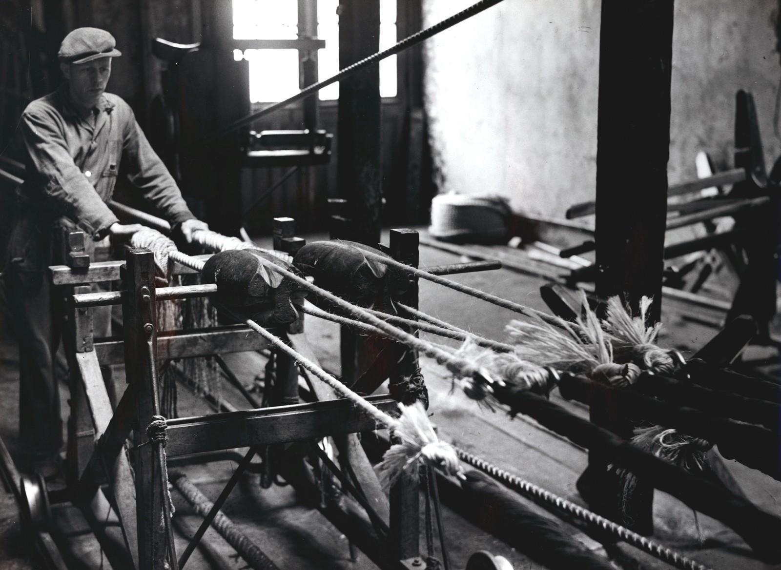 Tauslagning i langbanen 1947