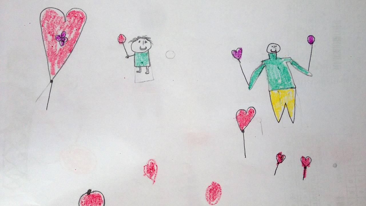 Traumetegninger av barn i flyktningeleirer.
