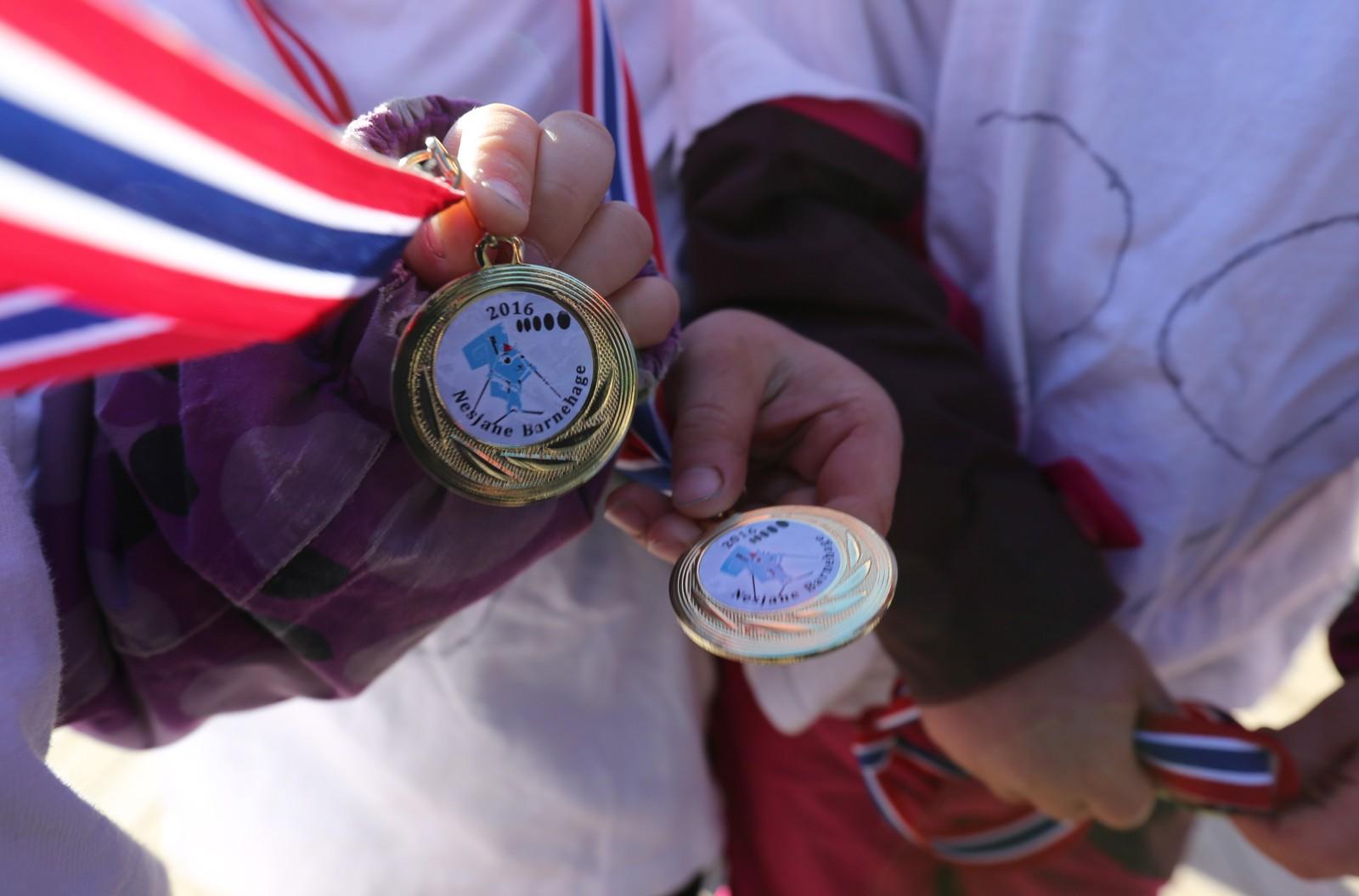 Alle fikk gullmedalje.