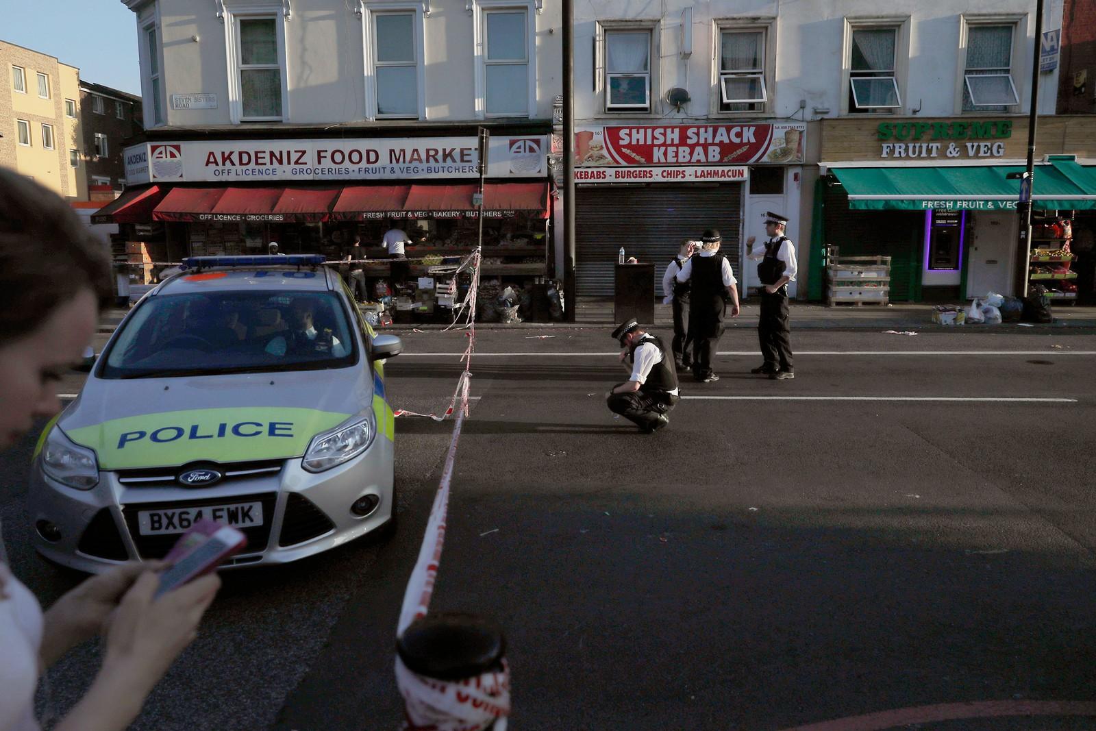 Politiet ved åstedet.