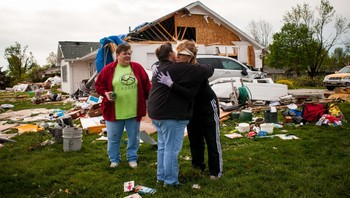 Tornadoødeleggelser i Iowa i USA