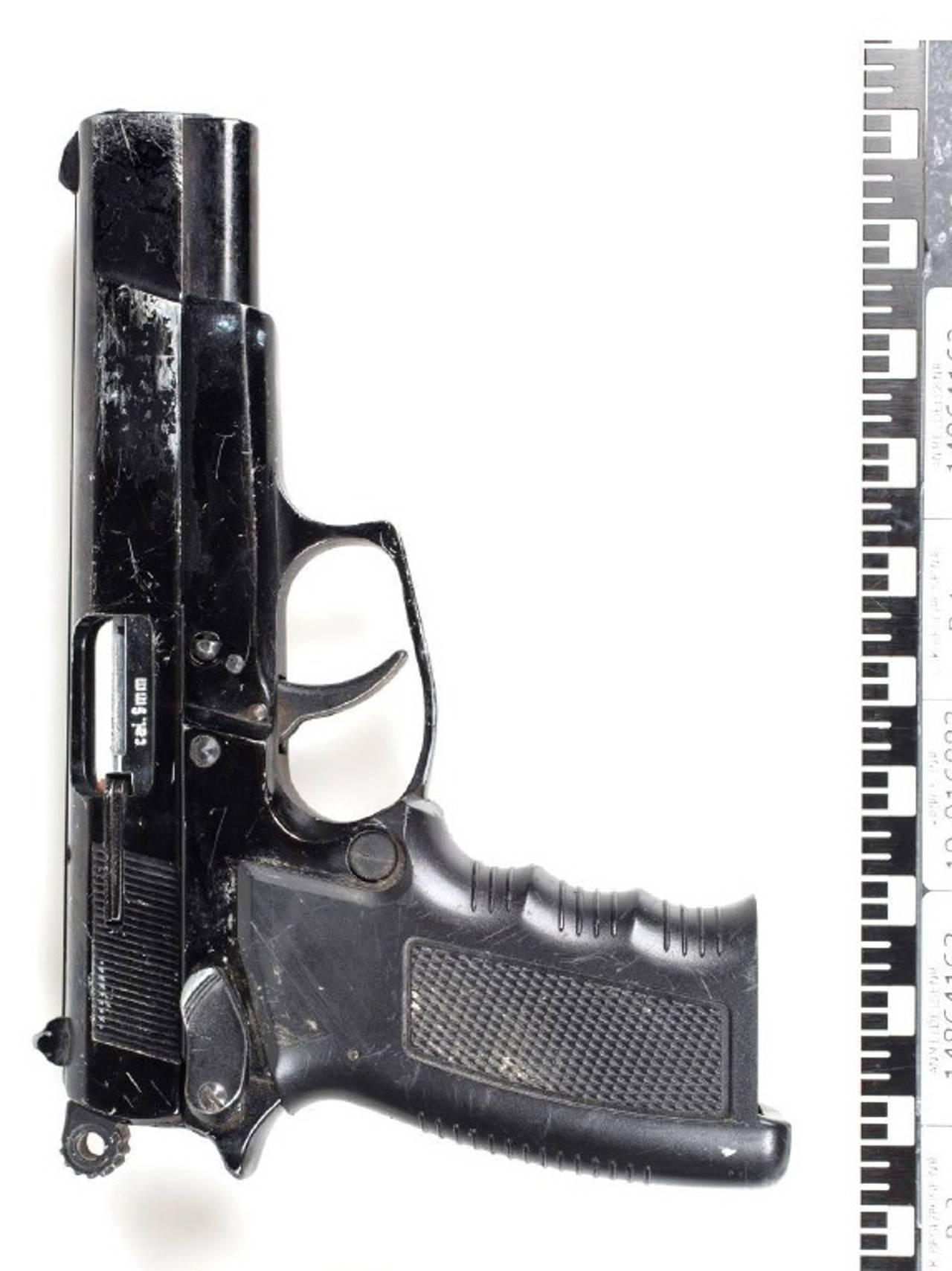 Våpenet som ble brukt under ranet av gullsmeden.